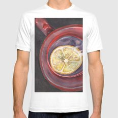 Tea with Lemon Mens Fitted Tee White SMALL