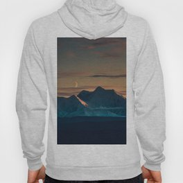 Sunset over the Alaska Range, Delta Junction Hoody