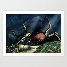 Deep Horror Art Print