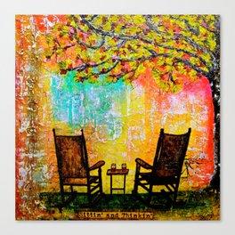 Sittin and Thinkin I Canvas Print