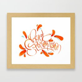 Fuck Extremism Loopy Framed Art Print