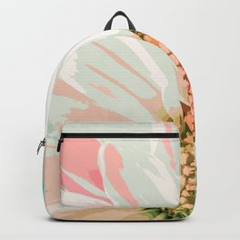 Elegant White Daisy in Watercolor Backpack