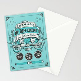 Be Daring, Be Different... Stationery Cards