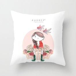 AUDREY SIRI Throw Pillow