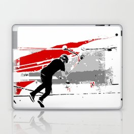 Spinning the Deck - Tail-whip Scooter Stunt Laptop & iPad Skin