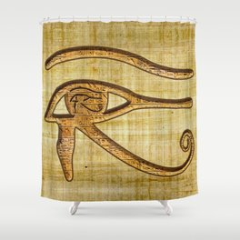 The Wadjet - Ancient Egyptian Eye of Horus Shower Curtain