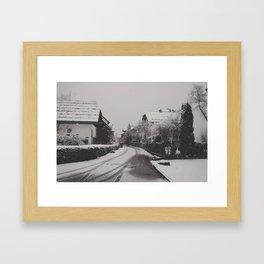 hallstatt under the snow (1) Framed Art Print