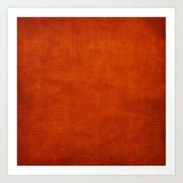 Burnt Orange  Art Print