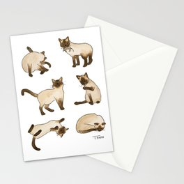 Siamese Cats Stationery Cards