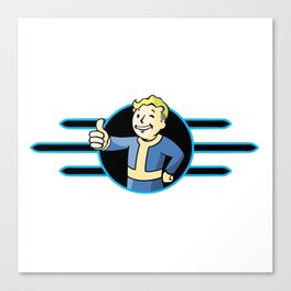 Fallout 4 Vault Boy Thumbs Up Canvas Print