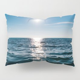 Sea Blue Sky sun Pillow Sham