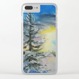 Michigan Pines at Sunset Clear iPhone Case