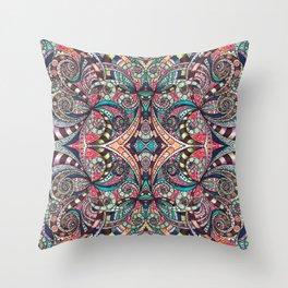 Drawing Floral Zentangle G237 Throw Pillow