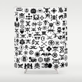 One Piece Jolly Roger Shower Curtain