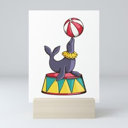 Sea Lion Circus Mini Art Print