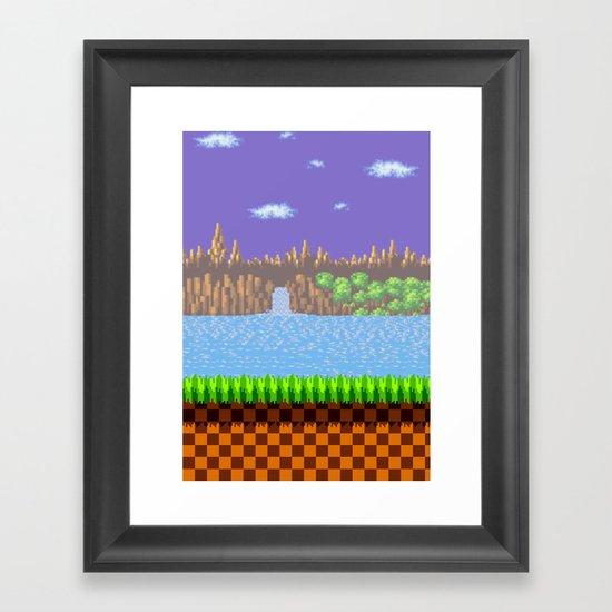 Green Hill Framed Art Print