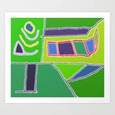 Blocks and Colors Art Print