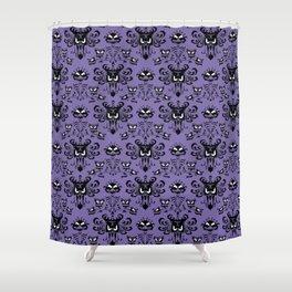Purple Wallpaper Shower Curtain