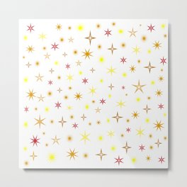 Star shapes of warm colors Metal Print