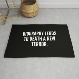 Biography lends to death a new terror Rug