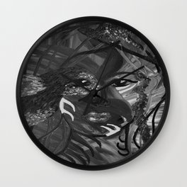 Flying Nature by Lu, black-and-white Wall Clock