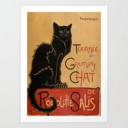 Le Grumpy Cat Art Print