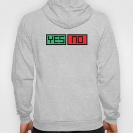 Yes No Buttons Hoody