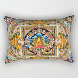 Buddhist Mandala Gold Tangka Wisdom Rectangular Pillow
