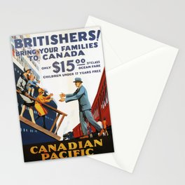 Vintage travel poster - Canadian Pacific Steamships Stationery Cards