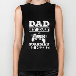 Gamer Dad Shirt - Dad by Day Guardian By Night Gaming Tshirt Biker Tank