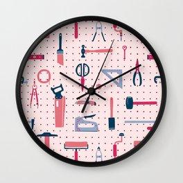 Studio Pegboard Wall Clock