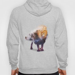 Lion Double exposure art Hoody