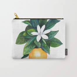 Citrus Flower Carry-All Pouch