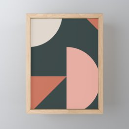 Orbit 04 Modern Geometric Framed Mini Art Print