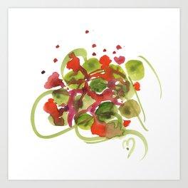 Atom Flowers #38 Art Print