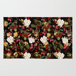 Cherries with Blossoms Rug
