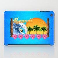 hawaiian iPad Cases featuring Hawaiian Surfing by MacDonald Creative Studios
