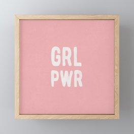 GRL PWR (pink) Framed Mini Art Print