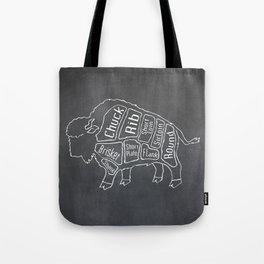 Buffalo Butcher Diagram (Meat Chart) Tote Bag