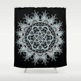 Mandala shadow Shower Curtain