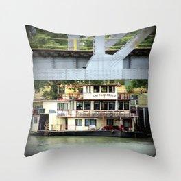 Captain Proud - Under the Bridge Throw Pillow
