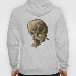 Skull of a Skeleton with Burning Cigarette Hoody