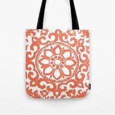 Art Deco Flower Coral Tote Bag