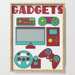 Best Trending Gaming Tshirt Design Gadgets Serving Tray
