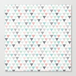Geometric pastel triangle scandinavian style aztec print Canvas Print