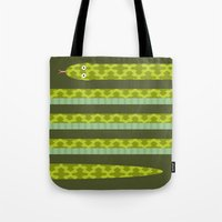 anaconda Tote Bags featuring Anaconda! by Helicon Hill