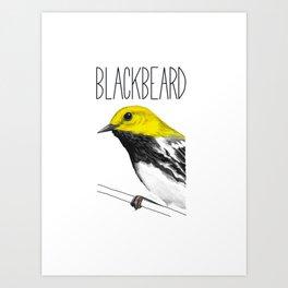 Blackbeard (Black-throated Green Warbler) Art Print