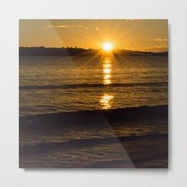 New Zealand sunrise over water Metal Print