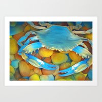 crab Art Prints featuring Crab by ShannonPosedenti
