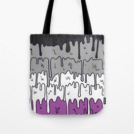Cute Pride Pastel Melting Pride Design, Asexual  flag Tote Bag